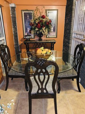 Table and 3 chairs only w/ bar table $400 from Ashley for Sale in Detroit, MI