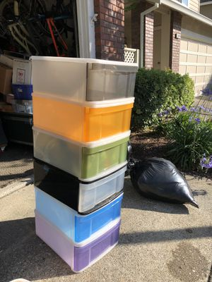 6 CONTAINER STORE Stackable Bins for Sale in San Ramon, CA