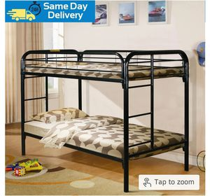 🍀BRAND NEW🍀Anemone Black Metal Twin/Twin Bunk Bed for Sale in Jessup, MD