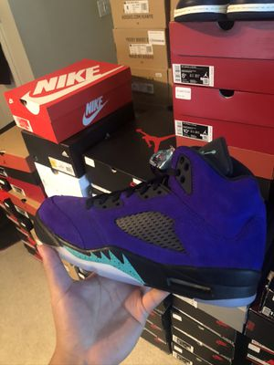 Nike air Jordan 5 grape size 8.5 9.5 10 10.5 11 12 $240 for Sale in Mercer Island, WA