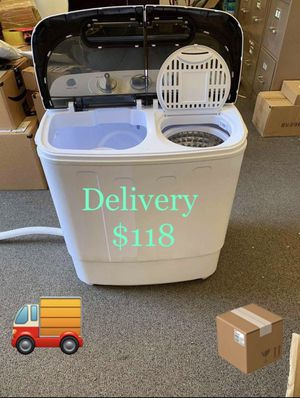 Delivery 13 lbs Portable Mini Compact Twin Tub Washing Machine Washer Spin Dryer for Sale in Anaheim, CA