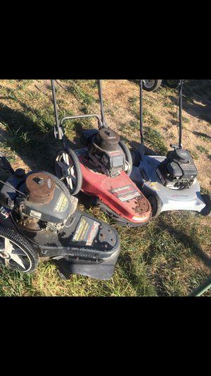 One Gas power lawn mower & 2 weed walker type mowers for Sale in Newark, CA