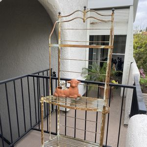 Antique Iron Baker's Rack, Plant Stand for Sale in Laguna Hills, CA