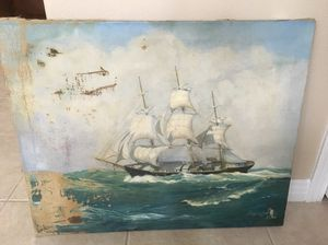 Antique oil painting seascape for Sale in Poway, CA