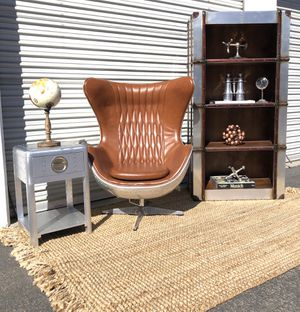 Aviator aluminum swivel chair, side table, & bookcase for Sale in San Diego, CA
