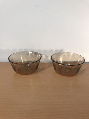 Vintage Pyrex #463 Amber Glass 6oz Custard Cups $8 for both or $5 for one PU Algonquin for Sale in Algonquin, IL