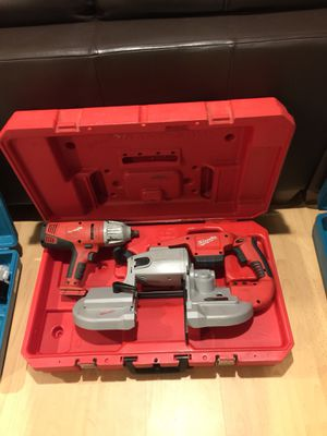 MiM28 Milwaukee 0729-21 band saw and impact wrench with charger and battery for Sale in Clarksville, MD