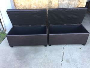 Two storage boxes in good condition. for Sale in Fresno, CA