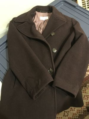 Women's classic brown Calvin Klein wool peacoat. Size 14 for Sale in Buffalo, NY