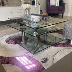 Modern Glass ! Adjustable , Moves From Small Glass Top To A Three Tier Table for Sale in Pompano Beach,  FL