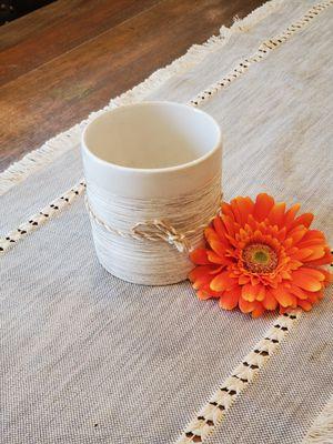 White Ceramic Vase | Off White Ceramic Vase | White Vase | Rustic Vase for Sale in Los Angeles, CA
