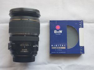 Canon 17-55mm 2.8 IS EFs lens w/ B+W polarizer, like new for Sale in Houston, TX