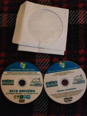 Windows 7 Driver and System Recovery Discs for Sale in Clovis, CA