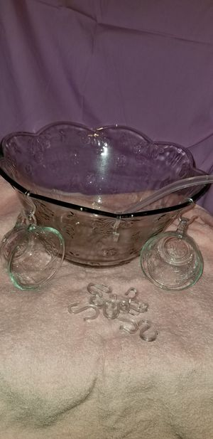Vintage Savanah Punch Bowl set by Anchor for Sale in Victoria, VA