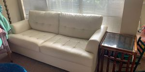White leather couch for Sale in Hermitage, TN