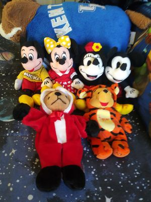 Disney Mickey and Minnie and Winnie the Pooh Beanie Babies for Sale in Covington, KY