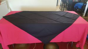 6/ OVERLAYS OR TABLE CLOTHES BLACK $$ 18 for Sale in El Cajon, CA