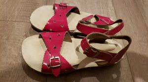 Salt water sandals scalloped edging, hot pink size 12 little girls for Sale in Elk Grove, CA