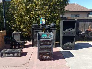 DJ system sistema de sonido, speakers, amplifier, mixers for Sale in San Mateo, CA