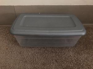 Plastic storage box for Sale in South Kingstown, RI