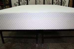 14inch Bed frame with 10inch Tempo Breeze Gel Memory Foam Mattress, Queen for Sale in Downey, CA