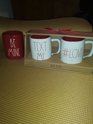 Rae dunn LOT OF 3 MUGS AT LESS THAN RETAIL/LESS THAN TAG PRICE!! $15 for all 3 for Sale in Lowell, MA