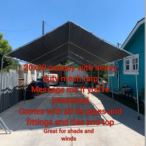 20x30 heavy duty canopy with top mesh tarp for Sale in Fullerton, CA