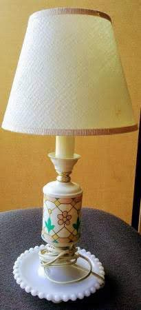 Antique milk glass lamp for Sale in Medford, OR