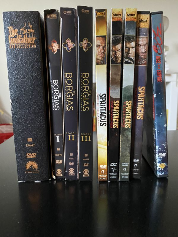 The Borgias, Spartacus, and The Godfather DVD Collection