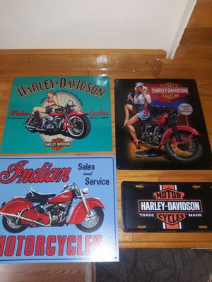 Motorcycle Tin Signs Harley/Indian for Sale in Palm Harbor, FL