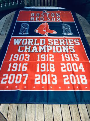 Boston Red Sox World Series Banner Flag for Sale in Providence, RI