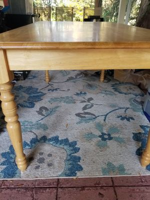 PENDING Pick up - Pine/ honey colored dining table ONLY for Sale in Ewing Township, NJ