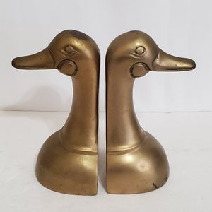 """Vintage Bookends Duckhead Bookends Brass Goose Bookends 6-1/2"""" Tall for Sale in Brookfield, IL"""