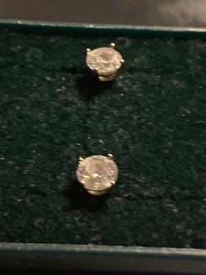 925 Silver Diamond Stud Earrings for Sale in Langhorne, PA