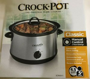 Crock pot slow cooker healthy retail $37 for $20 the big model SCR450-S for Sale in Hollywood, FL