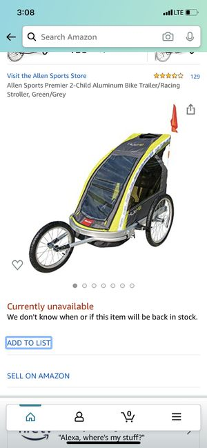 Bike trailer for Sale in Garfield, NJ