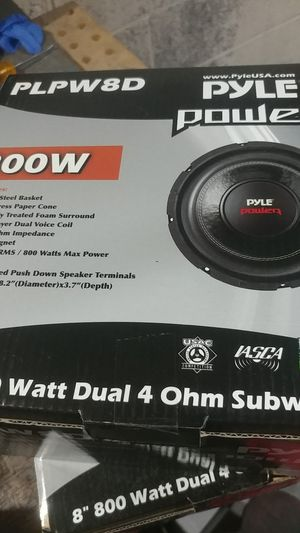 Pyle plpw8D 8 inch subwoofers (2) for Sale in Browns Mills, NJ