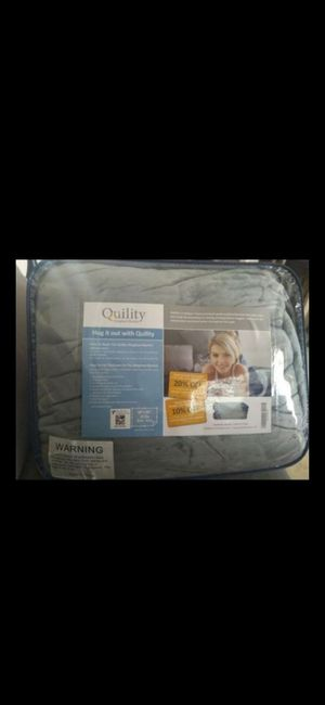 Brand New Quility Weighted Blanket 60 x 80 inch cobija cobertor sábana con peso para ansiedad for Sale in San Bernardino, CA