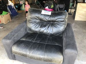Furniture for sale! Leather chair, futon, entertainment center and more! for Sale in Alafaya, FL