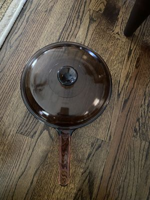 Corning VISION Ware Amber/ cook over the stovetop pan/ lid for Sale in Concord, NC