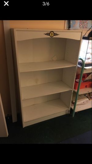 Pair of white bookcases for Sale in Bonsall, CA