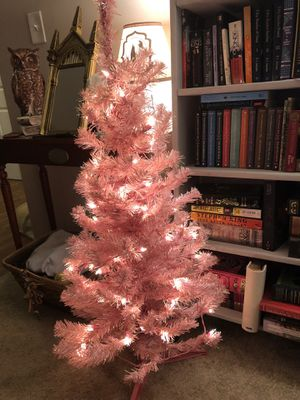Pink Pre--lit Christmas Tree for Sale in Wheaton, IL