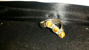 sterling silver ring size 7 tiger's eye 925 stamp you for Sale in Anaheim, CA