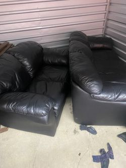 Nice Black Couches A Set!! Very Clean! for Sale in Saint Charles,  MO