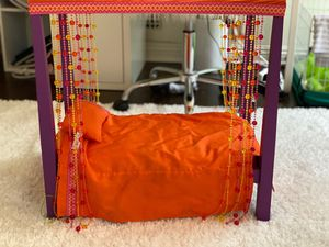 American Girl Doll- Julie's canopy bed, and bedding. for Sale in Los Angeles, CA