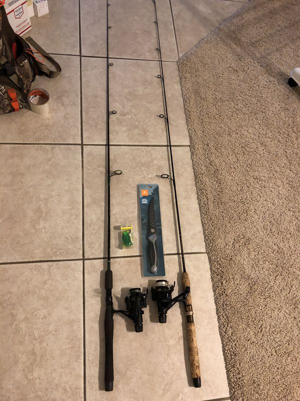 2 very nice trout fishing rods and reels