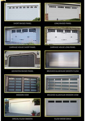 Garage door and repair we do AC too hacemos aire acondicionado también for Sale in Anaheim, CA
