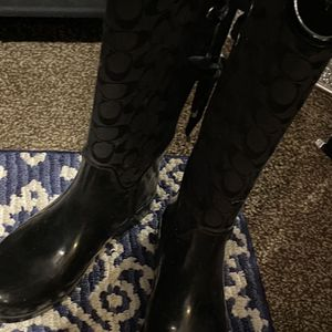 Coach Rain Boots Size 7! for Sale in Southgate, MI