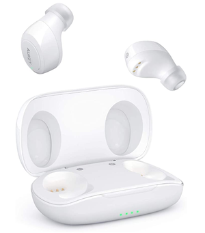AUKEY True Wireless Earbuds, Bluetooth 5.0 Headphones with IPX5 Water-Resistant, Built-in Mic & Sport Headphones, Portable HiFi Stereo with Case for Sale in Mukilteo, WA