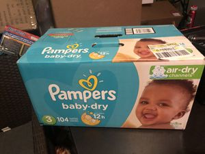 Pampers size 3 for Sale in Rialto, CA
